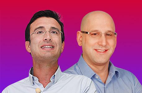 """מימין: ניר שטרן מנכ""""ל סלקום ומיכאל גולן בעלי גולן טלקום"""