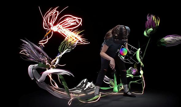 עבודות שנוצרו בעזרת Tilt Brush Art מערכת של גוגל ליצירת אמנות VR