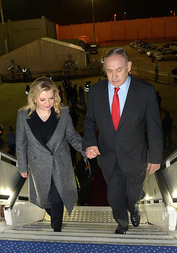 בנימין נתניהו ושרה נתניהו אמש בדרך לסין