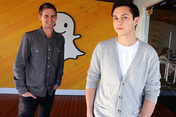 Snapchat co-founders Evan Spiegel and Bobby Murphy. Photo: Getty Images