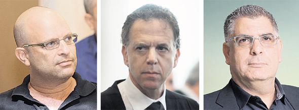 מימין: גבי טרבלסי, אודי גינדס ואמיר ברטוב. עמוד קריטי הושמט