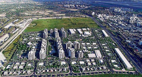 הדמיית הפרויקט בית בפארק באור יהודה