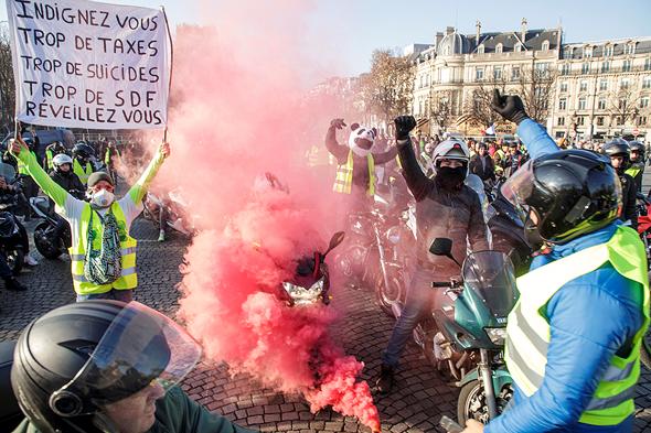הפגנות המחאה השבוע בפריז