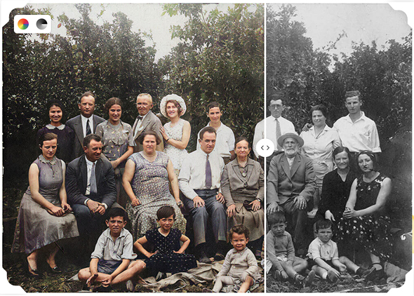 MyHeritage's photo feature. Photo: MyHeritage