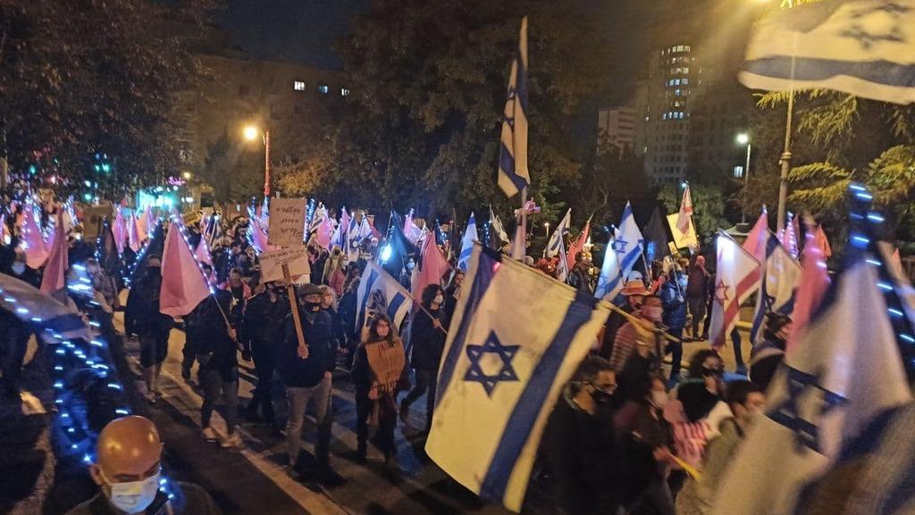 המחאה בירושלים, הערב