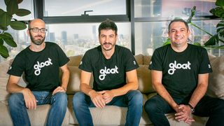 מייסדי gloat מימין דני שטיינברג סמנכ״ל שיווק בן ראובני מנכ״ל עמיחי שרייבר סמנכ״ל טכנולוגיות, צילום: מעיין שוורץ